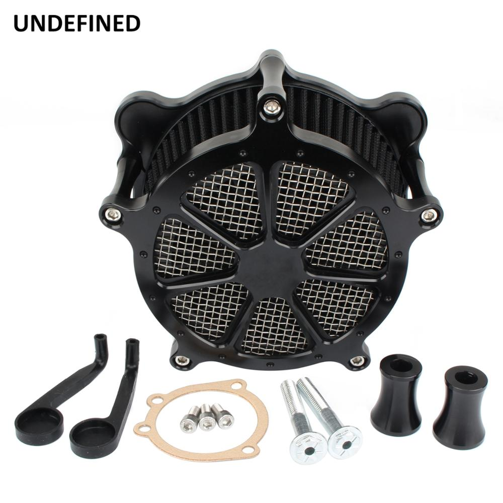 Black Air Filter Intake Venturi Cut Air Cleaner Kits For Harley Touring Dyna FXR Road King Street Glide Road Glide Softail FXDL