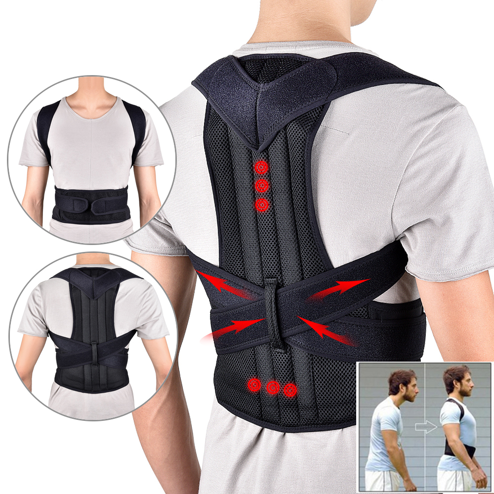 Waist Trainer Back Posture Corrector Shoulder Lumbar Brace Spine Support Belt Adjustable Adult Corset Posture Correction Belt