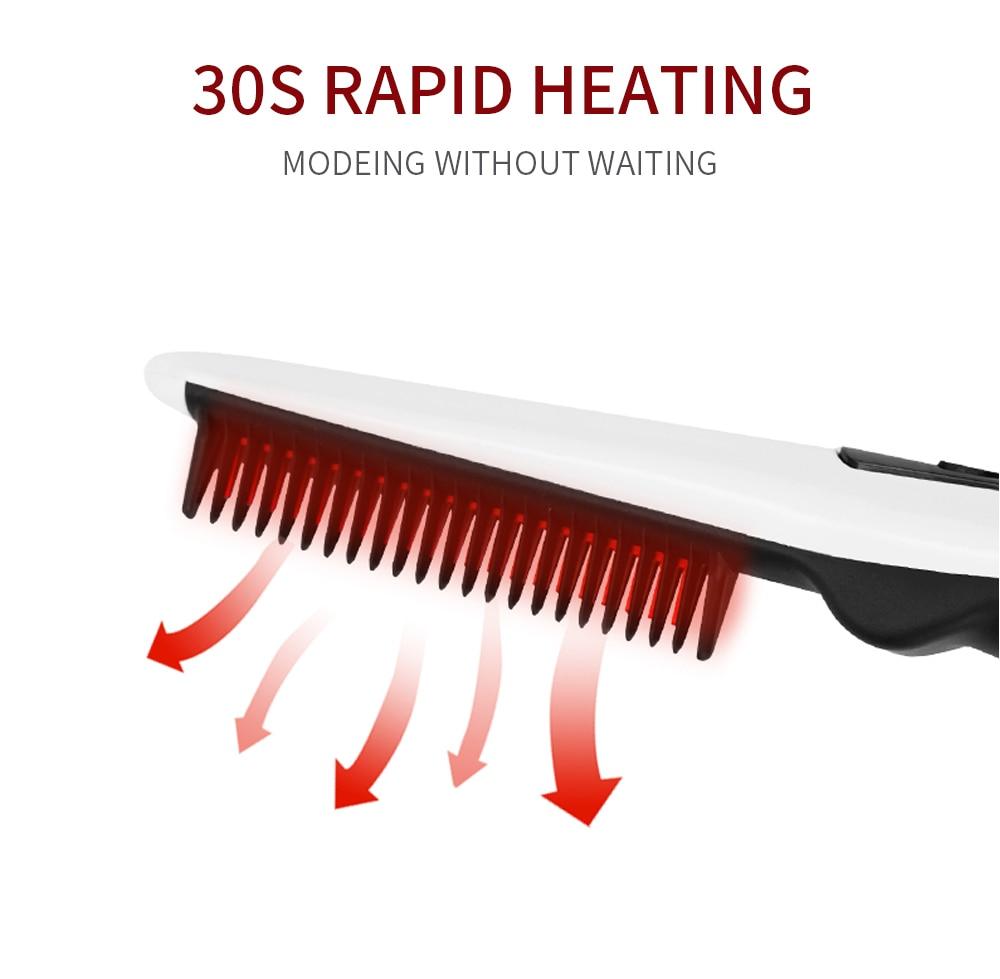 Quick Beard Straightener Hair Comb Multifunctional Hair  For Man Curler Show Cap Tool Electric Heating Hair Brush 11