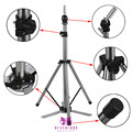 Wig Stand Adjustable Mannequin Tripod Stand for Wig Display Making Stainless Steel with Pedals Hairdressing Holder Head Stand