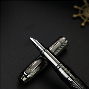 Image 2 - Girl new style fountain pen Office writing  New concept wavy texture ink pen 4 colors can choose with or without  boxes