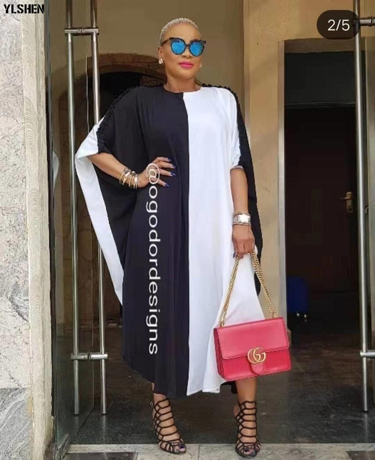 African Dresses For Women 2019 Africa Clothing Muslim Long Dress High Quality Fashion Boubou African Dress For Lady Kaftan Robe