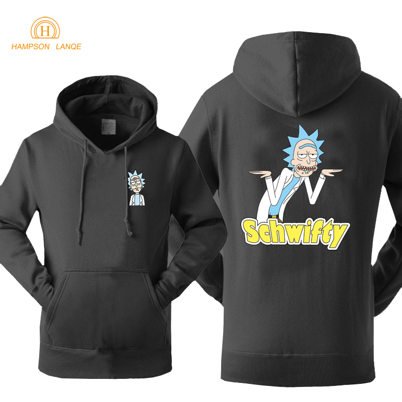 Rick And Morty Schwifty Letters Print Hoodies Men 2020 Autumn  Autumn Casual Sweatshirts Print Brand Hoodie Loose Fit Jacket