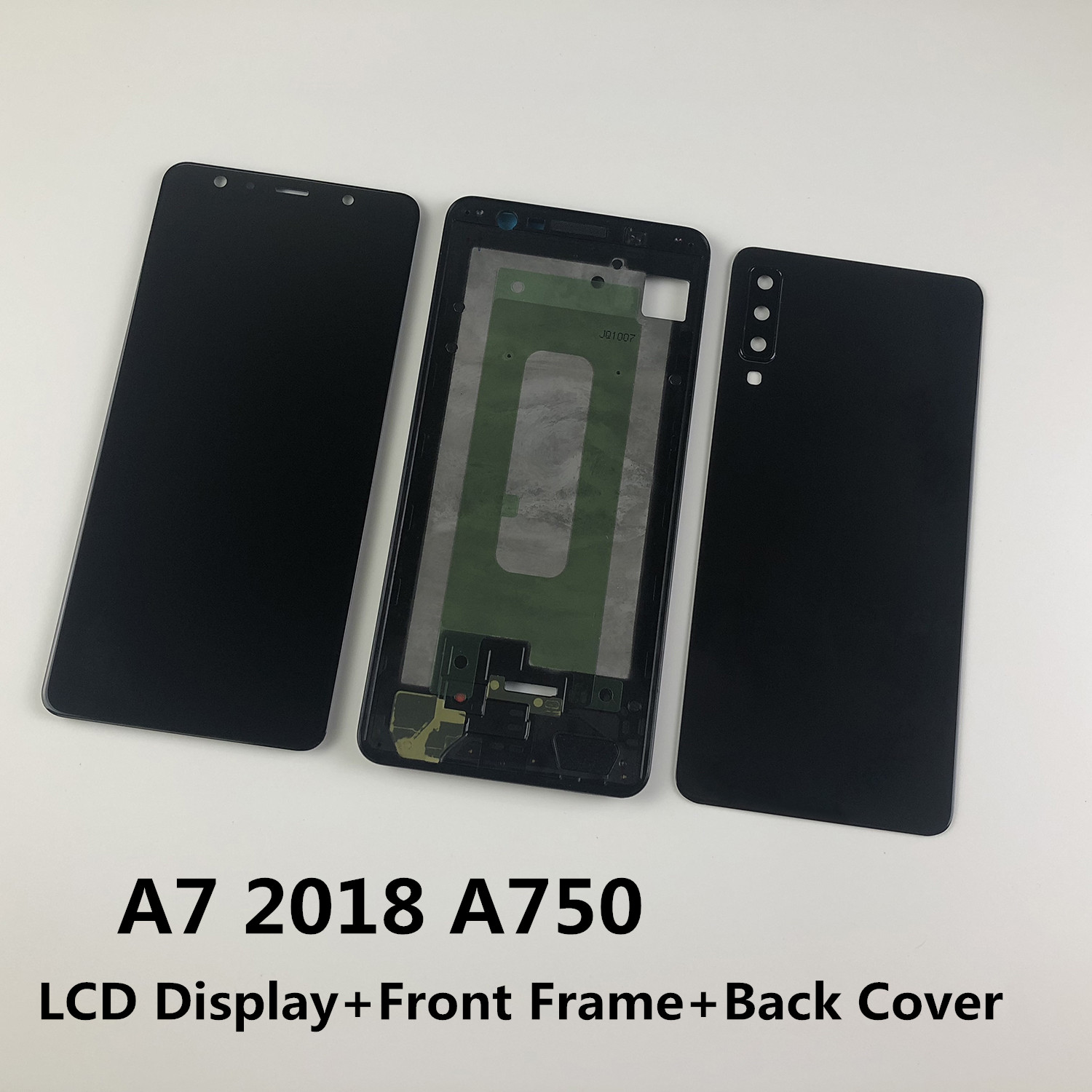 For <font><b>Samsung</b></font> Galaxy A7 2018 <font><b>A750</b></font> A750F A750FN <font><b>LCD</b></font> Display Touch Screen Digitizer Assembly+Housing Front Frame+Battery Back Cover image