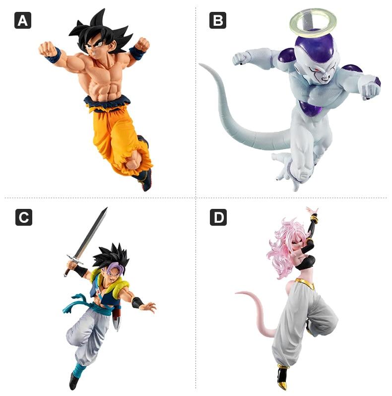 Bandai Genuine Gacha Toys Dragon Ball Hg Super Son Goku Frieza Majin Buu Action Figure Model