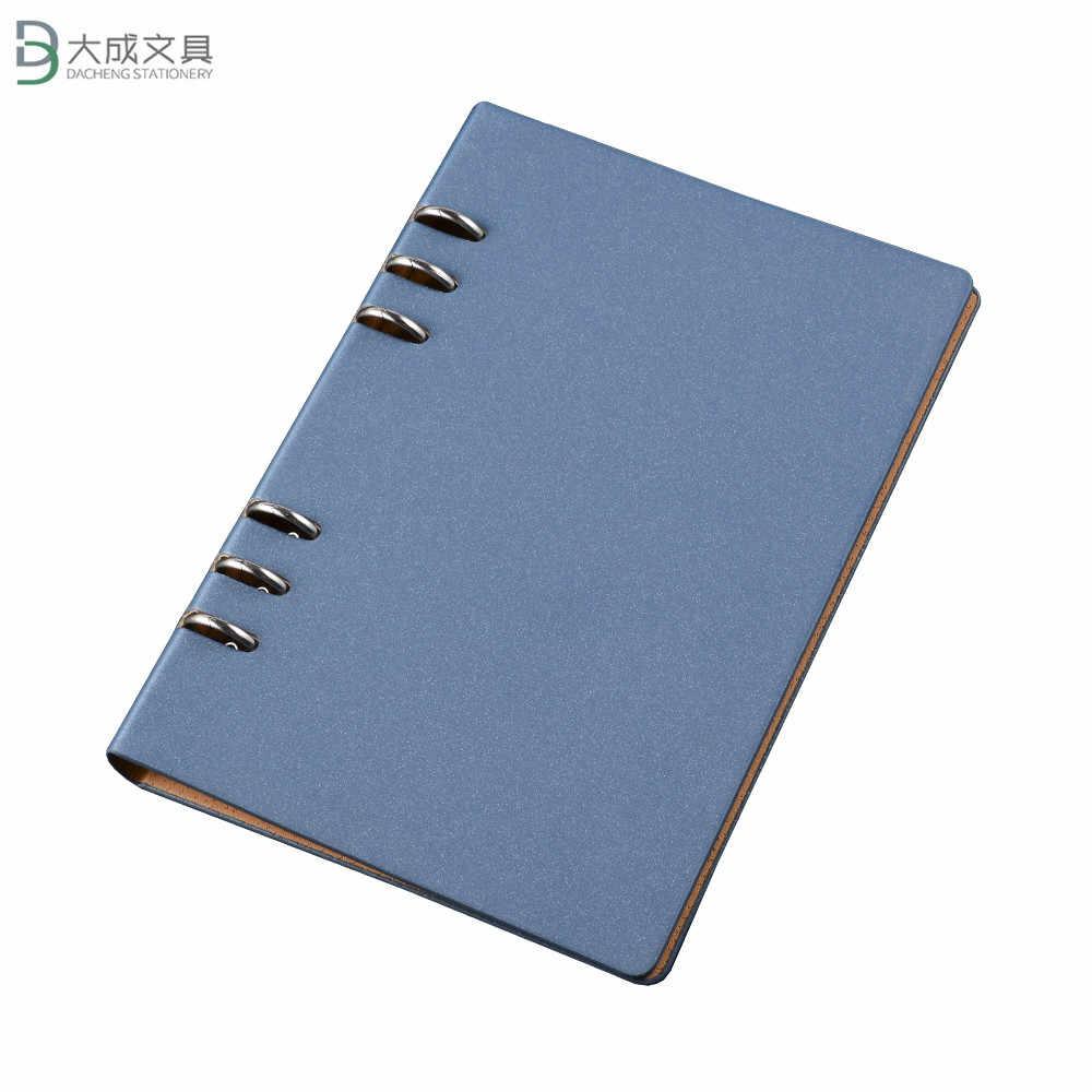 A5b5a4 negócios loose-leaf notepad notebook capa de couro conferência escola viajar capa dura negócios customizaed notebook