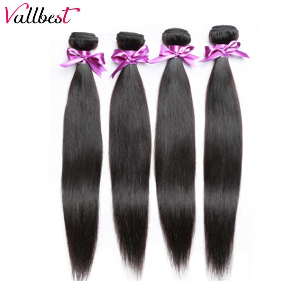 Vallbest перуанские прямые волосы 3 пучка предложения человеческие волосы пучок s натуральный черный 8-28 ''remy Волосы расширитель без запутывания мягкие волосы