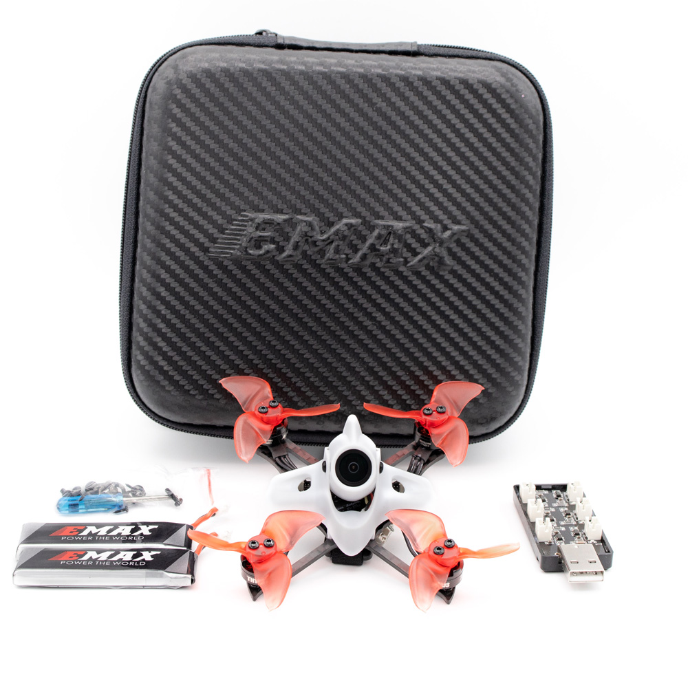 Emax TINY II Race Indoor FPV Racing Drone Carbon With F4 FC / 1103 7500KV motor / Runcam Nano 2 Camera Support 5.8G FPV Glasses