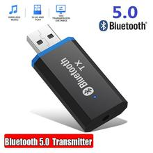 Bluetooth 5.0 Audio Receiver Transmitter USB Mini 3.5mm Jack AUX Stereo Wireless Adapter