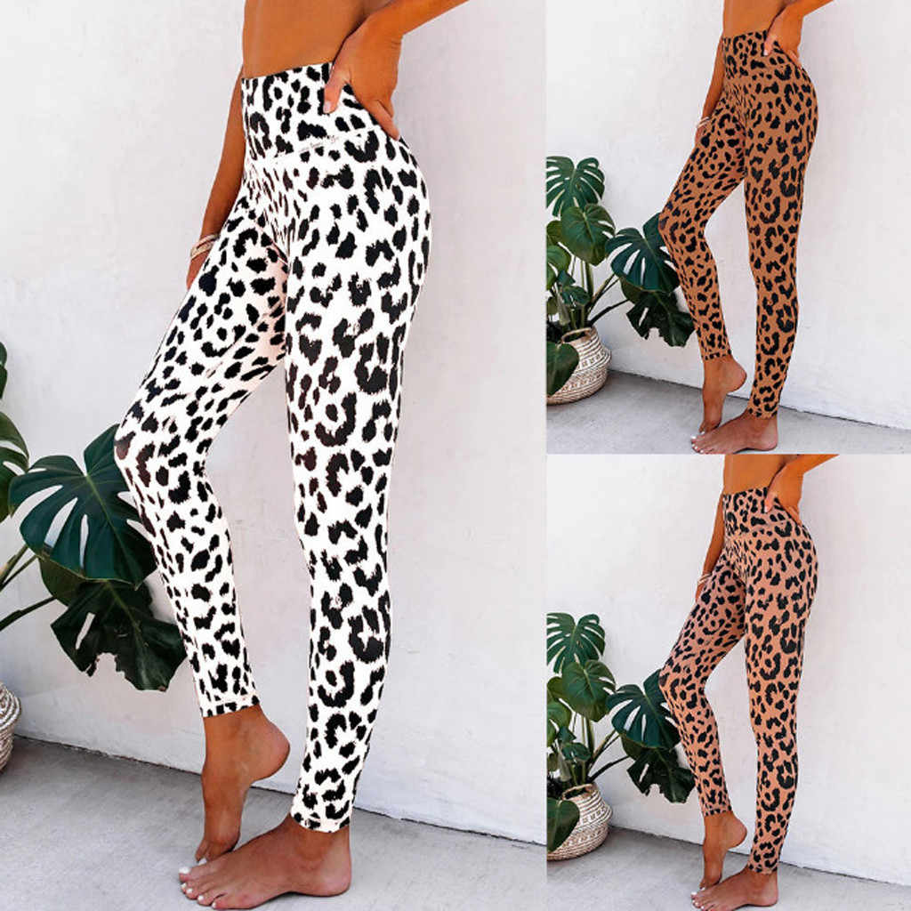 Mode Yoga Hosen leggins mujer Leopard Druck legging feminina leggins fitness Frau hohe Taille Hosen workout leggings #45