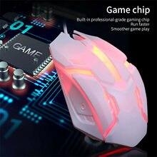 S1 oyun fare 7 renk LED aydınlatmalı ergonomik USB kablolu oyun fare yan kablo optik fare oyun dizüstü için fare fare PC