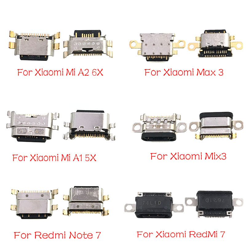 New USB Jack Charging Socket Connector Port  For Xiaomi Mi A1 A2 8 9 CC9E Max3 Mix 3 Redmi Note 7 Pro Replacement Part