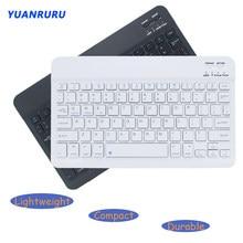Kablosuz Bluetooth klavye Mini şarj edilebilir klavye Tablet Laptop Smartphone için iPad desteği IOS Android telefon taşınabilir