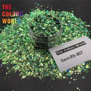 Image 5 - TCT 379 láser camaleón cambio de Color grueso mezcla hexágono brillo para uñas arte decoración arte corporal maquillaje vaso manualidades Festival