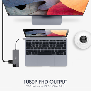 Image 3 - Vothoon USB סוג C רכזת כדי HDMI USB3.0 RJ45 SD כרטיס קורא מתאם USB ספליטר עבור MacBook Pro אוויר 8 in1 USB יציאת סוג C Hub