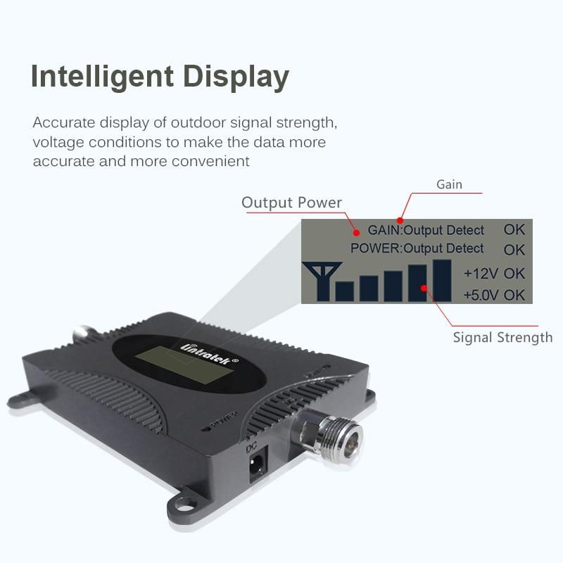Wzmacniacz sygnału Lintratek 4G LTE 2600MHz zespół 7 Repeater 4G 65dB wzmacniacz telefonu komórkowego 2600MHz z wyświetlaczem LCD pełny zestaw #7.5
