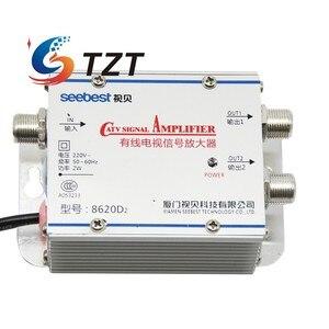 Image 2 - Tzt Seebest SB 8620D2 Kabel Tv Signaal Versterker Splitter Booster Catv Versterker 2 Output 20DB