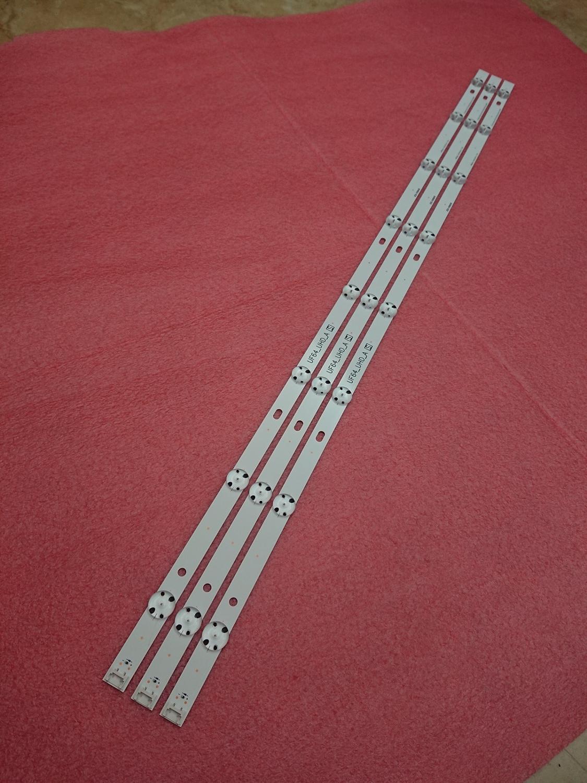 (Novo Kit) 3 PCS 8LED 850 milímetros tira conduzida luz de fundo para LG HC430DGN-SLNX1 43UF6400 43UF640V 43UF6407 43UH610V 43UH619V 43UH603V