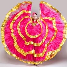 2020 New Spanish Big Swing Dress Adult Female Chorus Performance Costume Gypsy Bullfight Dance Modern National Costume DL5730
