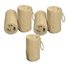 5pcs Household Merchandises Natural Loofah Luffa Loofa Spa B