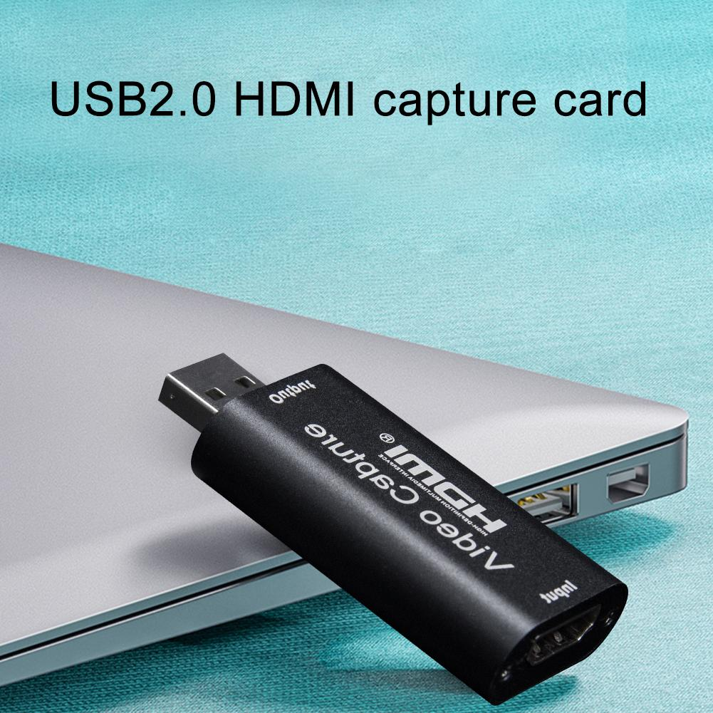 Video Card Capture HDMI Video Capture With Loop Out USB2.0 Cards Grabber Streaming Live Broadcasts Video Recording