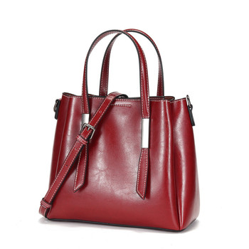 ICEV new solid zipper cowhide handbag casual simple soft genuine leather women handbag large capacity tote bags famous brands фото