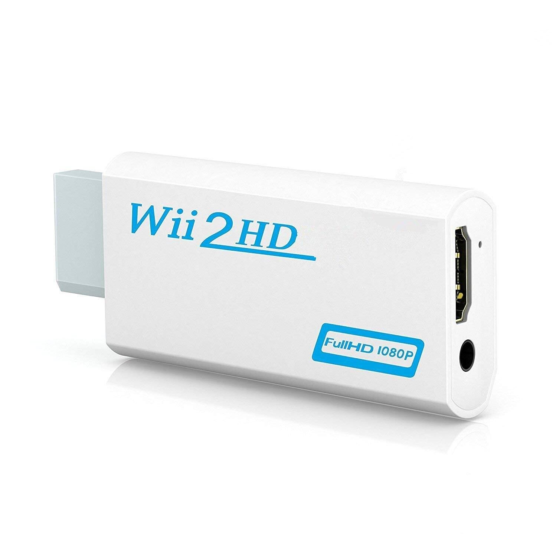 Полный HD 1080P Wii-совместимый адаптер преобразователя Wii 2hdmi-совместимый преобразователь 3,5 мм аудио для ПК HDTV монитор дисплей