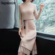Модное платье свитер женские вязаные платья свитера корейские