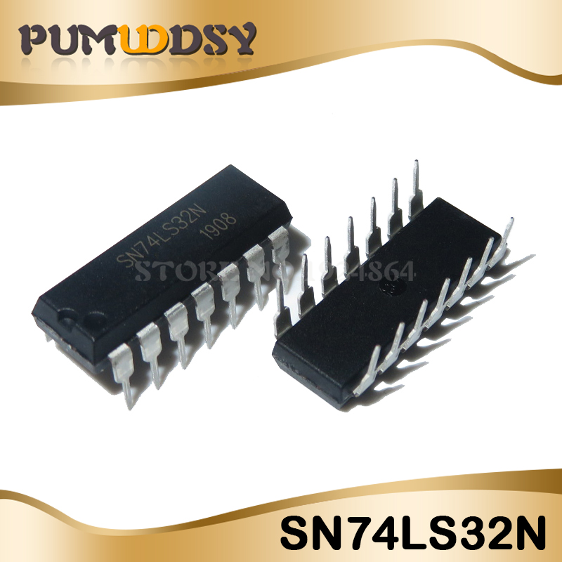 10pcs SN74LS32N 74LS32 7432 IC Quad 2-Input Positive OR Gate DIP-14