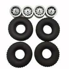 цена на New 4pcs Metal Wheel Rim Tire for 1/16 4WD WPL MN Buggy Crawler Off Road 2CH RC Vehicle Models Spare Parts High Quality