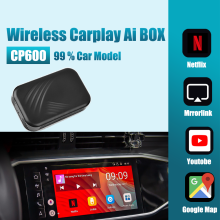 Apple Carplay AI Box 2 + 32G Auto Multimedia Player CP600 Spiegel Link Wireless Carplay Android system stecker und spielen Auto TV Box