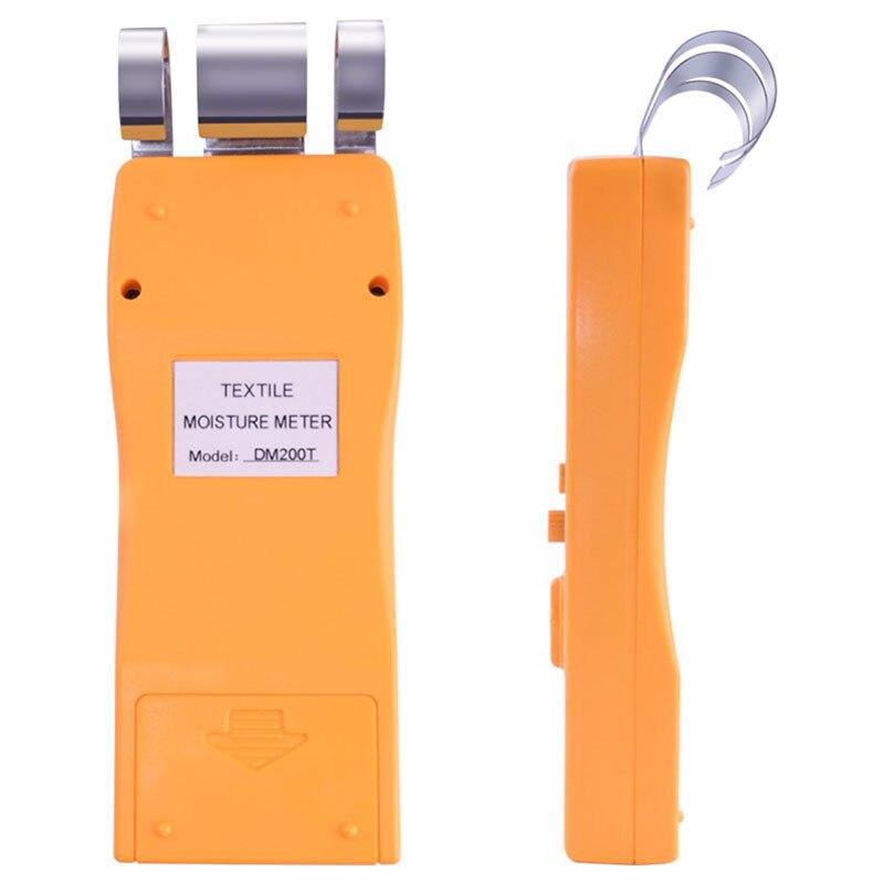 Instrumento dm200t alto desempenho portátil digital têxtil umidade medidor de medição display lcd - 6