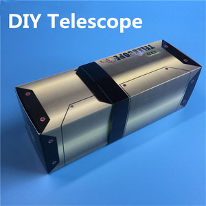 DIY Telescope Wood Model Kit juguetes Physical Science Experiments Toy Set Technology Assembly Toys Educational Toy for Kids