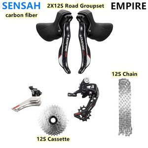 Image 1 - SENSAH אימפריה פרו סיבי פחמן 2x12 מהירות כביש אופני קלטות 12 s שרשרות Groupset, עבור derailieur 5800 R7000 6800