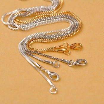 120piece Chain Findings 50cm 1.4mm Box Chain Necklaces Pendant Chains for Jewelry Making