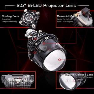 Image 2 - Sinolyn مصباح أمامي 2.5 بوصة ثنائي LED ، جهاز عرض عيون الملاك ، H4/H7/9005/9006 ، مصباح أمامي للسيارة ، مصباح ديود أوتوماتيكي ، ملحقات تحديث