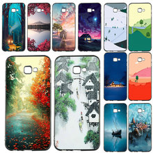 Nature Forest House Soft Silicone TPU Mobile Phone Case for Samsung Galaxy A3 A5 A7 J1 J2 J3 J4 J5 J6 J7 J8 2016 2017 2018 Shell