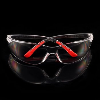 1 PCS Safety Glasses Lab Eye Protection Protective Eyewear Clear Lens Workplace Safety Goggles Supplies new safurance laser goggles safety glasses protective eyewear pc with adjustable legs workplace safety