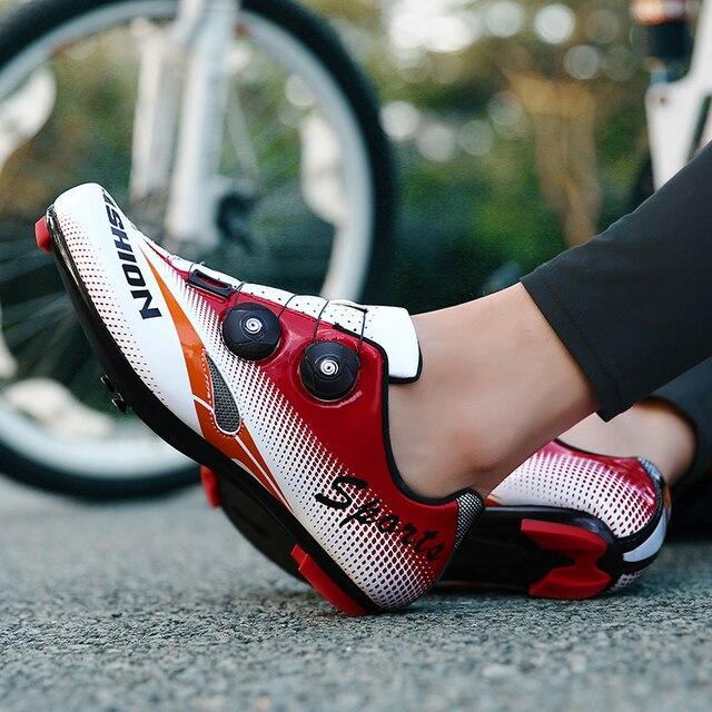 FAD VELOCIDADE New Unissex Sapatos de Bicicleta de Estrada Sapatos de Ciclismo Sapatos de Bicicleta Mtb ultraleves tênis de bicicleta auto-bloqueio Tamanho respirável 46 2