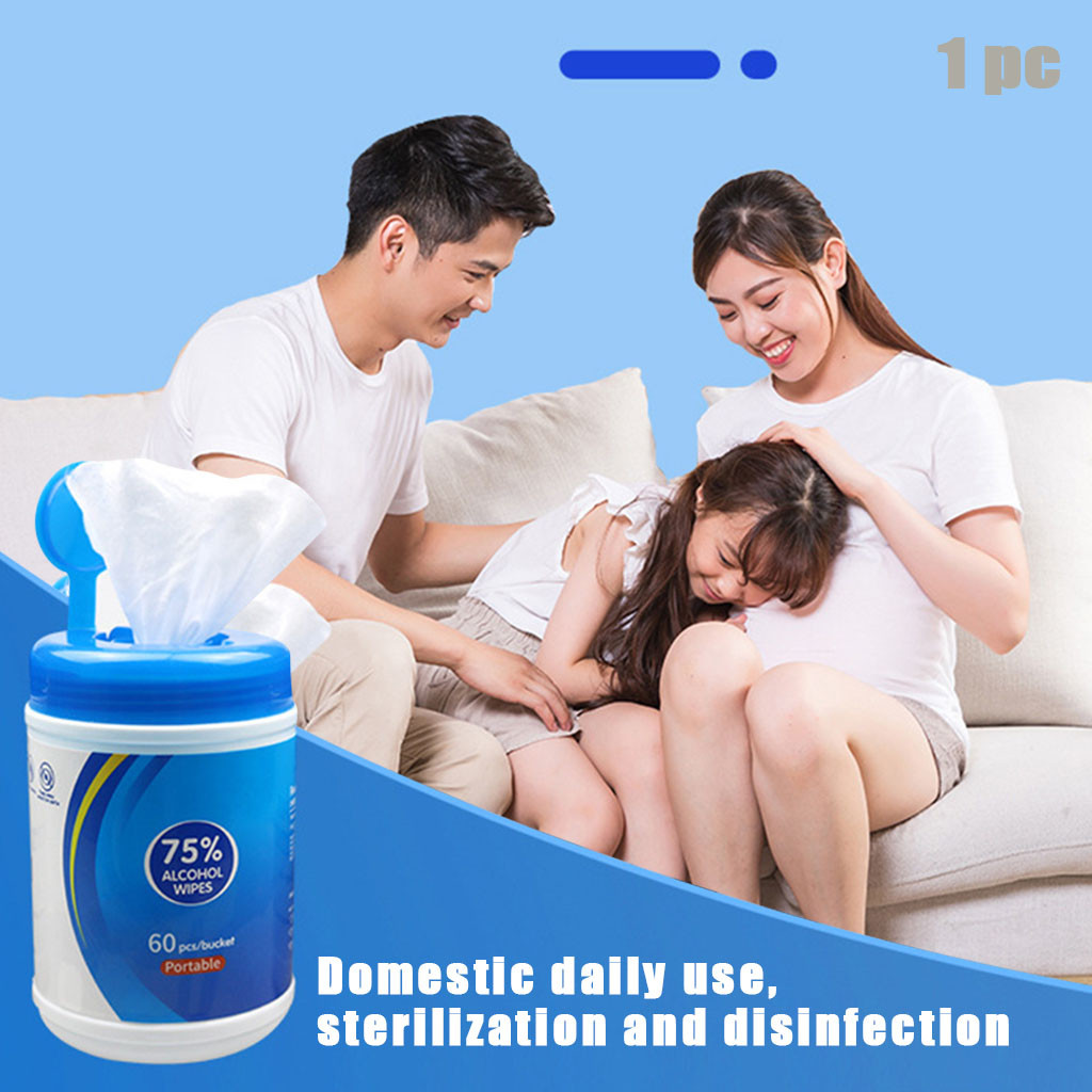 Wipes Flushable Disinfection Wipes New Disposable Wipes Cleaning Wipes For At-Home Use 60 Total Wipes