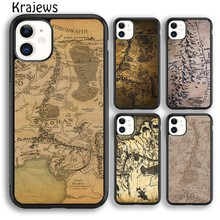 Krajews Lord Of The Rings Middle Earth Map Soft Phone Case For iPhone 5s 6s 7 8 plus X XR XS 11 pro max Samsung Galaxy S8 S9 S10(China)