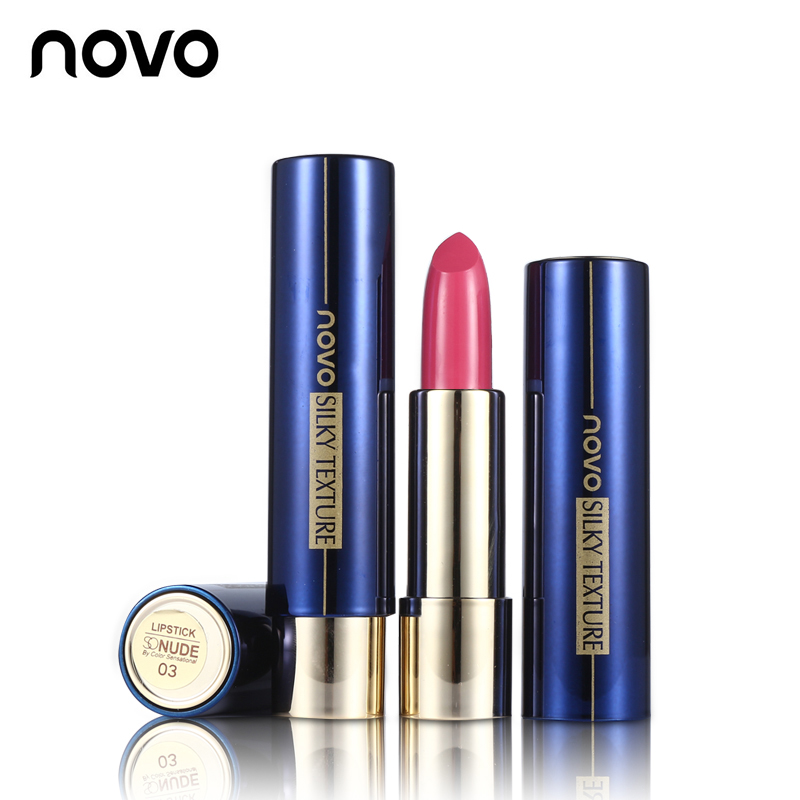 NOVO Matte Lip Stick Waterproof Non-stick Durable Flame Lipstick Korean Moisturize Tint Red Nude Make Up Cosmetics Brand Makeup image