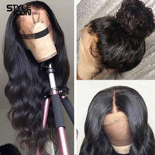 360 peruca frontal do laço brasileiro 13x4 onda do corpo do laço peruca dianteira do cabelo humano 32 polegadas perucas do fechamento do laço da onda do corpo para a mulher preta