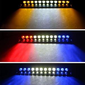 Image 1 - 1 세트 12 LED 고강도 차량 비상 위험 경고 스트로브 플래시 라이트 대시 데크 그릴 앞 유리 Led 자동차 라이트