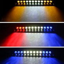 1 ensemble 12 LED haute intensité véhicule durgence avertissement de danger stroboscopique Flash lumière pour tableau de bord pont gril pare brise Led lumière de voiture