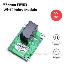 Image 1 - SONOFF Módulo de relé Wifi Itead RE5V1C interruptor de 5V DC e welink, interruptor de relé de alimentación remota, modo de bloqueo/cierre automático para casa inteligente