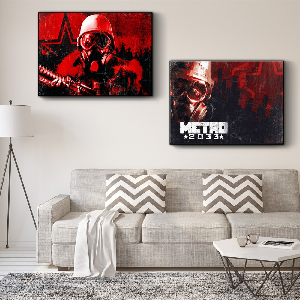 Metro 2033 Fear The Future Posters And Prints Wall Art Canvas Painting For Living Room Decoration Home Decor Unframed Quadros