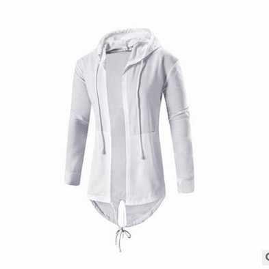 Litthing мужские толстовки с капюшоном модные хип хоп мантия толстовки куртка длинный рукав плащ Мужское пальто Верхняя одежда Moleton Masculino