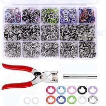 9.5 Mm 100/150/200 Sets 10 Kleuren Metalen Naaien Knoppen Prong Ring Drukknopen Snap Fasteners + Clip Tang, bevestigingsmiddelen Voor Kleding