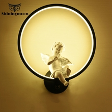 Modern 18W LED Wall Lamps Nordic Black Acrylic Lamp Living Room Dining Lighting Decoration Beside  Sconce